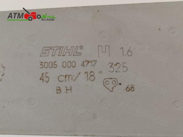 "BARRA STIHL 18/"" CM.45 X MOTOSEGA MS250 MS251 PASSO 325/"" DA MM.1,6 MAGLIE 68"